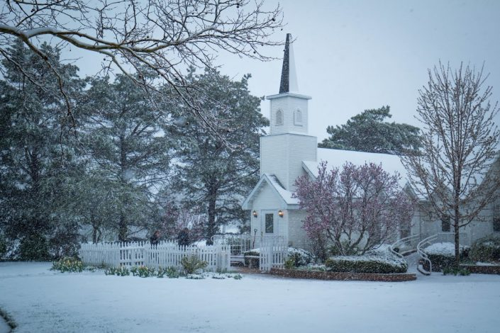 Our wedding chapel in the winter. Getting ready for a winter ceremony. We Apologize for the Inconvienence page