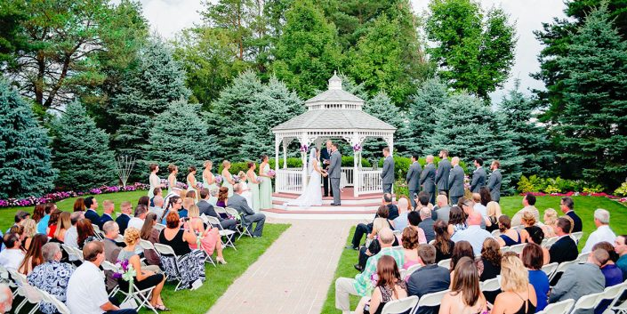 view of a chapel in the pines gazebo ceremony