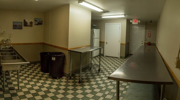 Clean and operational kitchens in our back room.